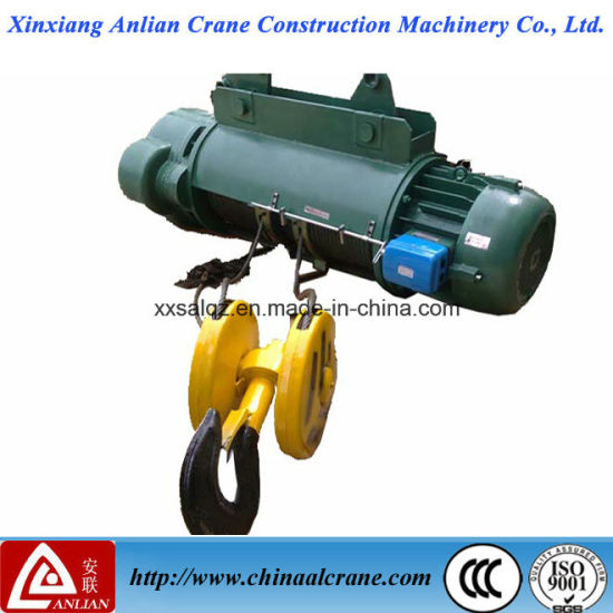 China High Lifting Speed 2t Electric Wire Rope Pulling Hoist - China ...