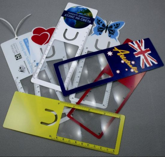 3X Plastic Bookmark Magnifying Glass with Ribbon (HW-813) pictures & photos