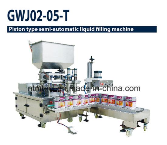 Piston Type Double Nozzle Liquid Filling Machine