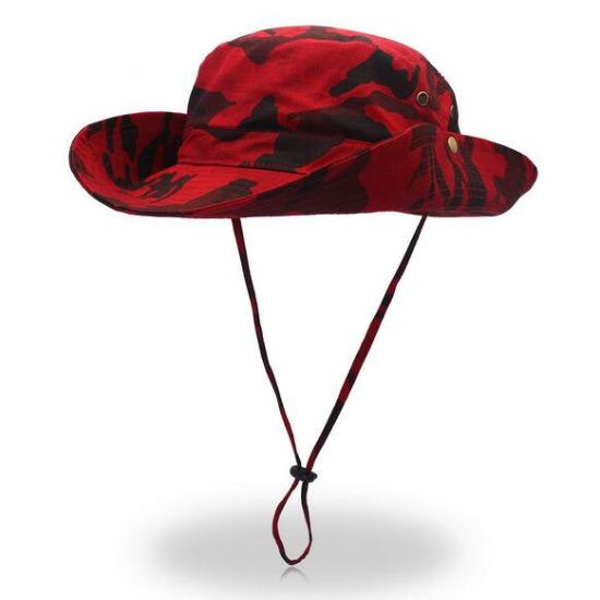 China Mens Camoflage Printed Wide Brim Cowboy Hat Sun Hat Fisherman ... f83384759f3