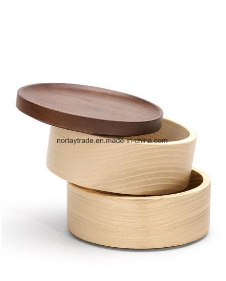 China Solid Wood Jewelry Box Cylinder
