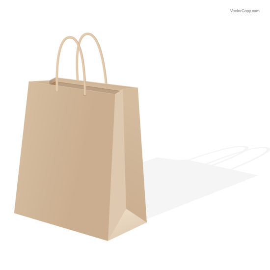 Kraft Paper Shopping Bags with Custom Logo pictures & photos