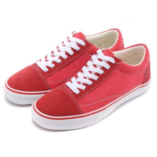 Lightweight Van Style Low Ankle Inexpensive Red Canvas Shoes