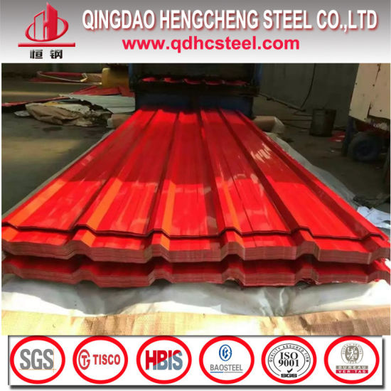Zinc Coating Color Coated Wave Shaped Roof Sheet pictures & photos