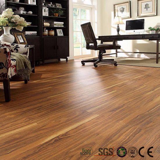 China Anti Slip Waterproof Wood Vinyl Floor Self Adhesive Tiles