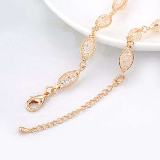 New Fashion Dubai 18K Gold Jewelry Crystal Necklace for Women pictures & photos