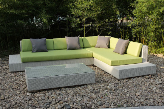 Modern Wicker Sectional Lounge Sofa Set Patio Garden Rattan Outdoor  Furniture