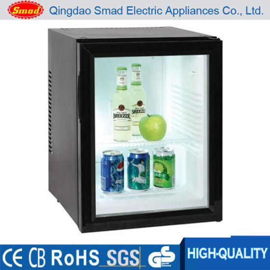 China Noiseless Glass Door Absorption Mini Bar Refrigerator Display