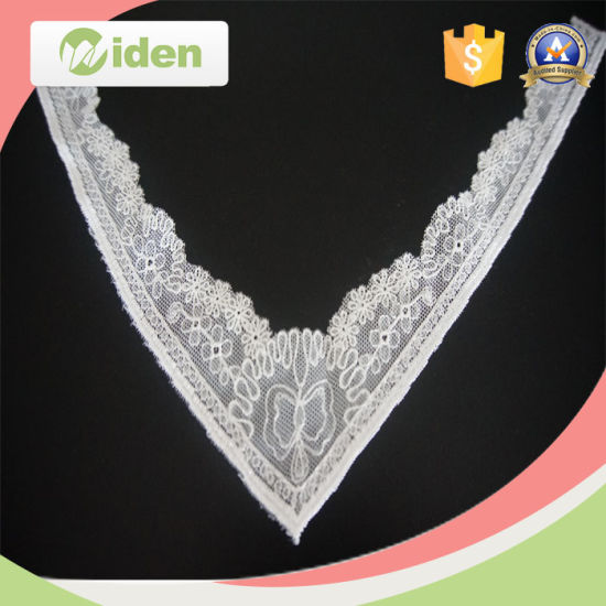 China Popular Austrian Embroidery Designs Flower Neck Design Lace