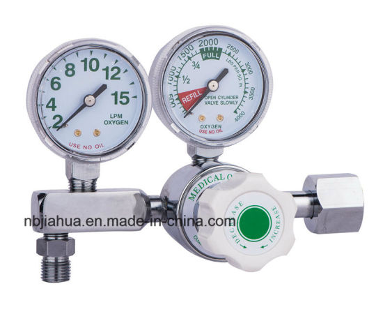 Double Guage Medical Oxygen Regulator Ce0120 ISO13485