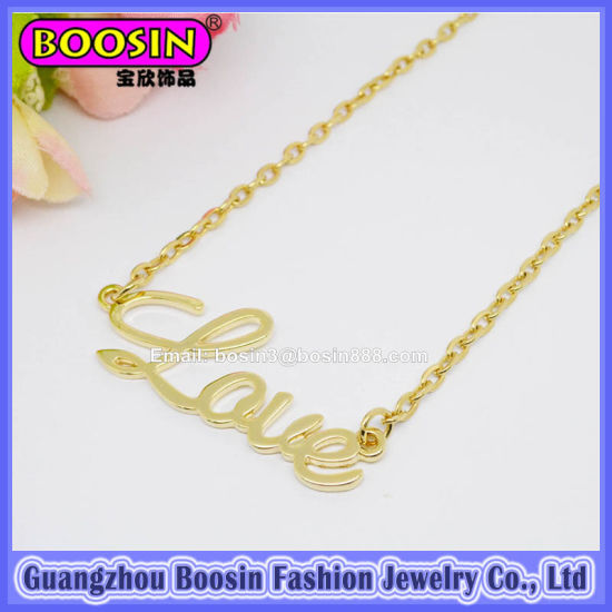 Custom Initial Pendant Necklace Personalized Gold Necklace pictures & photos