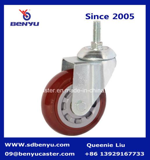 Medium Duty Purplish Red Caster Wheel with Screw