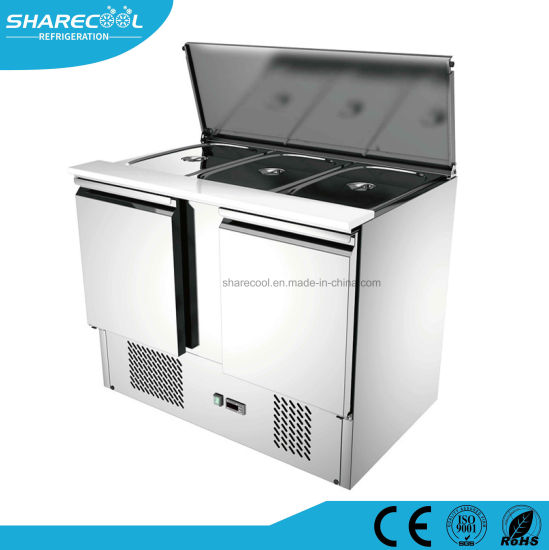 China Stainless Steel Commercial Sandwich Prep Table Counter Chiller - Commercial prep table refrigerator