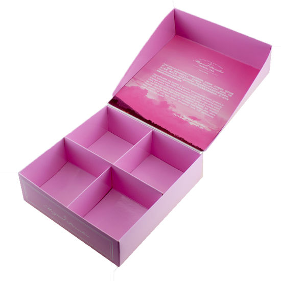 Chinese Custom Pink Storage Box Clamshell Gift Tea Packing Box
