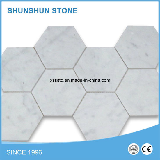 Small Round White Marble Mosaic for Decoration pictures & photos