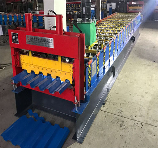 China Building Material Wall Panel Metal Roofing Fascia Trapezoidal Tile Roll Forming Machine China Metal Sheet Building Machine Metal Building Machine