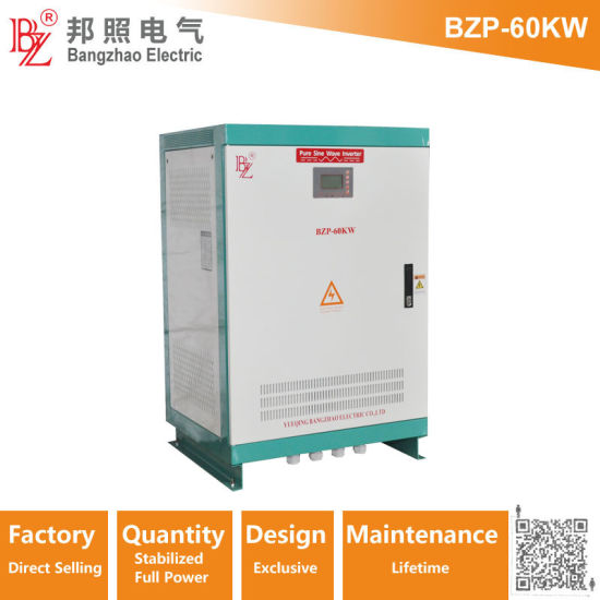50kw/60kw/80kw/90kw Pure Sine Wave Power Inverter-PV Hybrid Inverter for Without Batteries Backup System