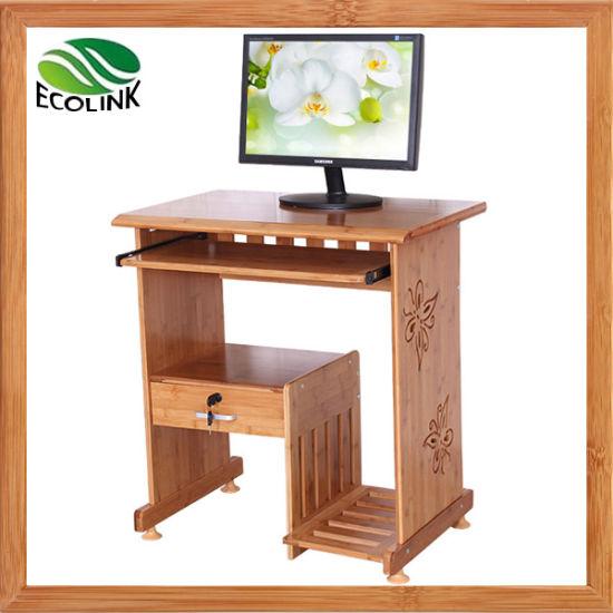 China Solid Bamboo Desk Computer Table, Bamboo Computer Desk