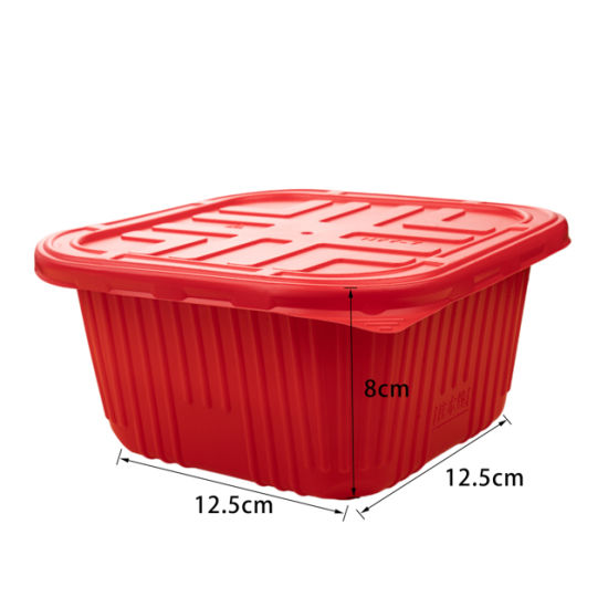 Square Shape Two Layers Microwavable Plastic Food Containers