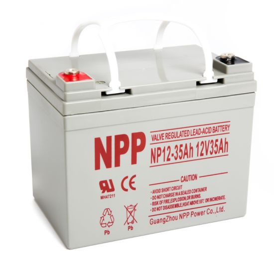 Npp Npd12-35ah 35ah 12volt AGM Deep Cycle Sealed Lead Acid Battery for Ebike Electric Wheelchair Scooter