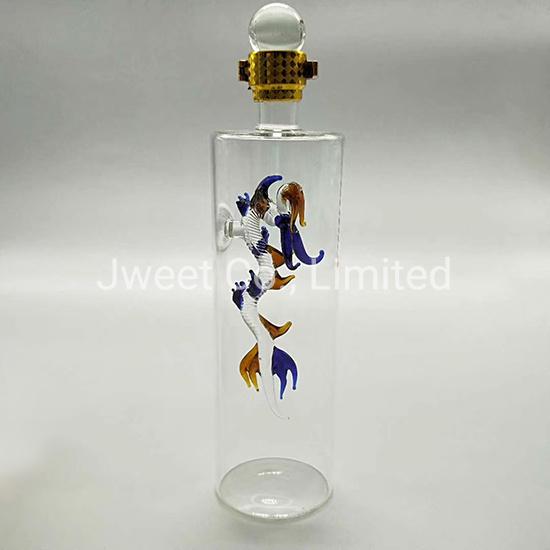 700ml OEM Dragon Aminal High Borosilicate Rum Wine Glass Bottle