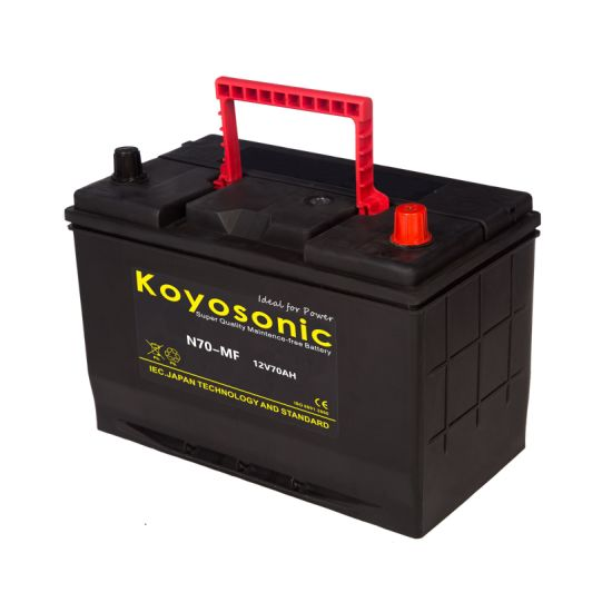 N70 Car Battery 12V 70ah Japanese Standard Storage Car Battery Starting Battery