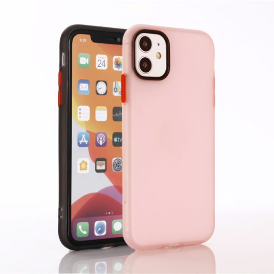 Ultra Slim Latex Phone Case with PC Button Mobile Phone Cover Accessories for iPhone Xr Xs Xs Max