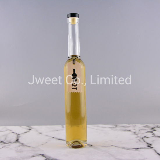 375ml Round Shape Empty Glass Brandy Beverage Wine Bottle