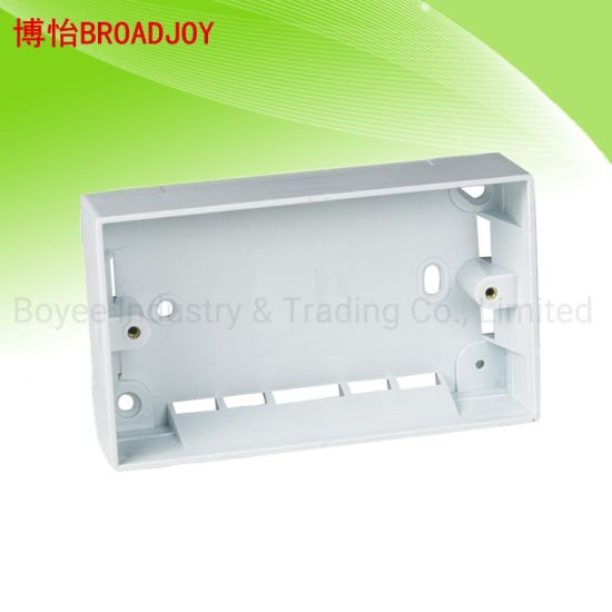 PVC Cable Trunking Electrical Double Gang Box pictures & photos