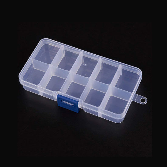 21865 Bead Storage Box Jewelry Kit Storage Box with 10 Removable Compartments