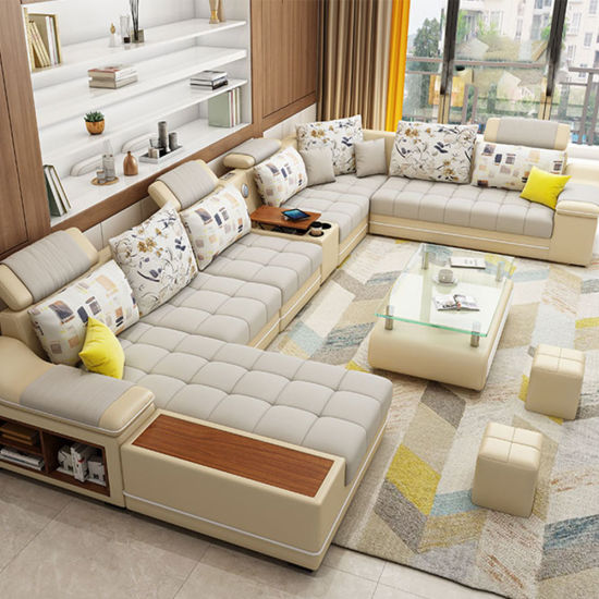 Wholesale Living Room Furniture Sets Modern Fabric Upholstered Sectional Sofa