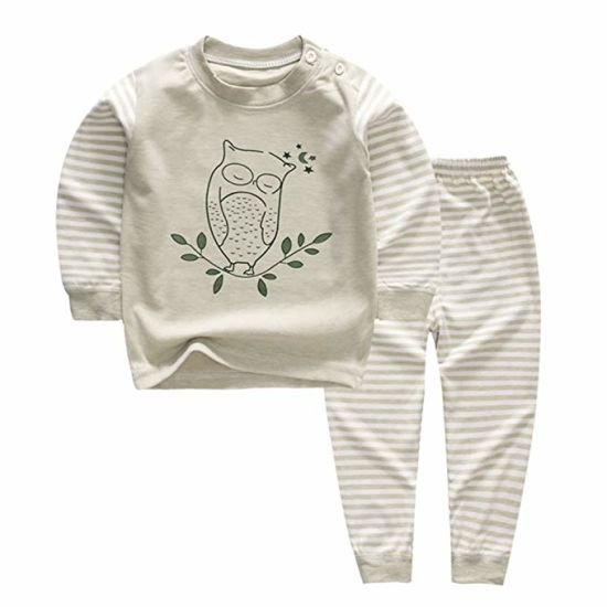 Basic Pajamas Long Sleeve Baby Boy and Girl 100/% Certified Organic Cotton
