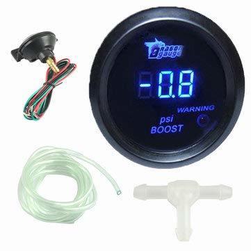 52mm Black Cover Car Universal Digital Blue LED Psi Gauge Meter - Car Electronics- Volt Meters