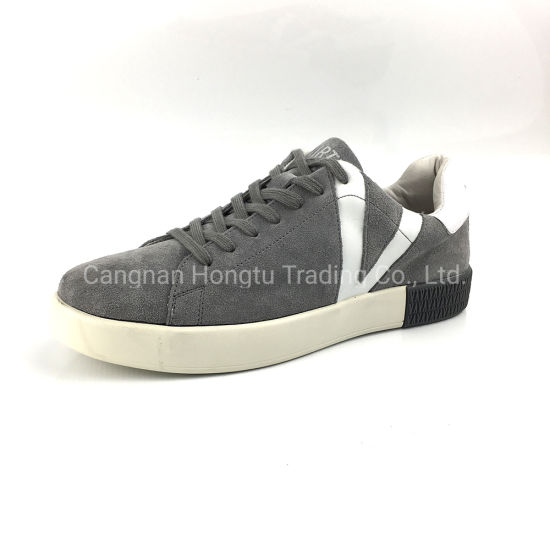 2019 Newest Crack Leather Casual Sneaker Comfortable Lifestyle Mens Shoe