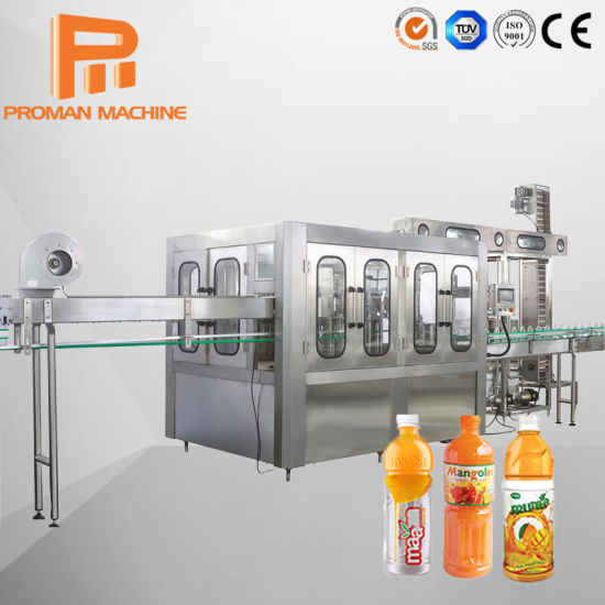 New Condition Fully Automatic Hot Filling 3 in 1 Washing Filling Capping Juice Production Line