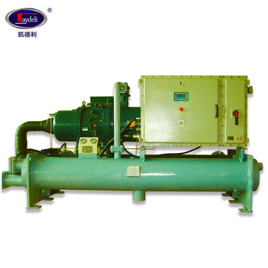 Screw Style Chiller Silent Air Compressor R407c Water Cooled Unit