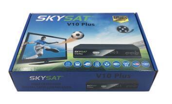 DVB-S2 Digital Satellite Receiver Skysat V10 Plus Supports Cccam Newcamd  Youtube Powervu Xteam Code IPTV Set Top Box