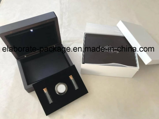 Handmade Matte Finish Quality Wholesale Wooden Gem Jewellery/Jewelry Gift Box/Case with LED Light pictures & photos