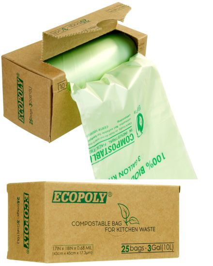 Eco Friendly Disposable 100% Biodegradable PLA Garbage Bag pictures & photos