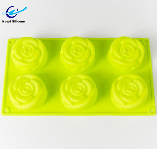 6 Cavities Supplies Cake Mold Silicone Ice Cube Tray pictures & photos