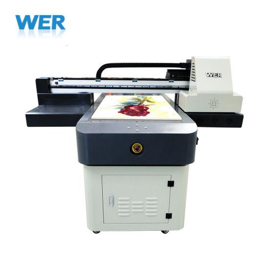 High Quality UV LED UV Flatbed Printer Wer-Et6090UV with Varnish