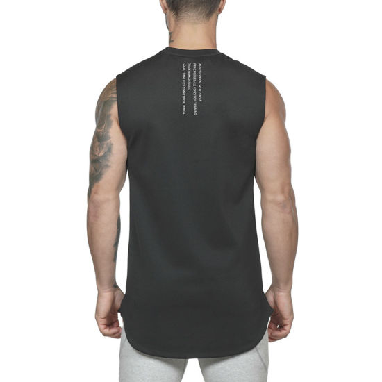 2018 sneakers best selling 2019 professional China Side Cut off Blank Gym Vest Running Mens Tank Tops ...