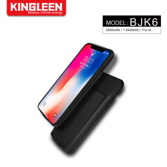 3600mAh Power Bank Charger Backup Battery Case for iPhone X pictures & photos
