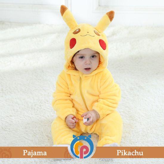 Romper Animal Cartoon Flannel Pikachu Newborn Pajamas