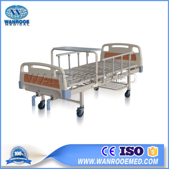 Bam200 Medical Equipment ABS Two Cranks Manual Hospital Patient Nursing Bed