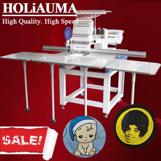 Holiauma1 Head Tajima Type Embroidery Machine for Shoes Garment Hat Towel Leather Embroidery with Big Embroidery Area 500*800 mm / 1200*360 mm / 500*1200 mm