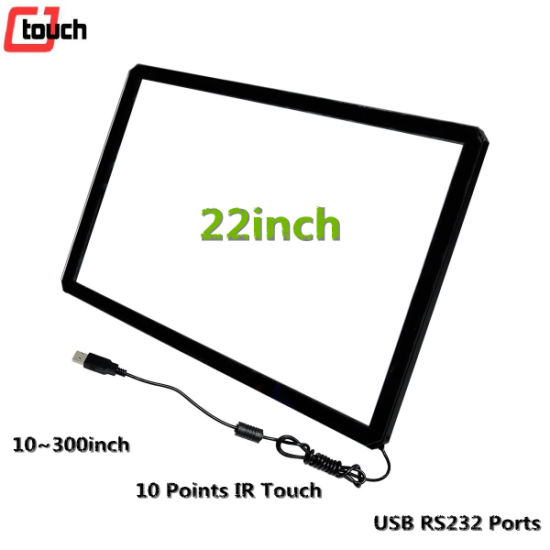 Touchscreen Display 22inch Vending ATM Payment Multimedia Kiosk PC Monitor IR Panel Frame Factory Cjtouch pictures & photos