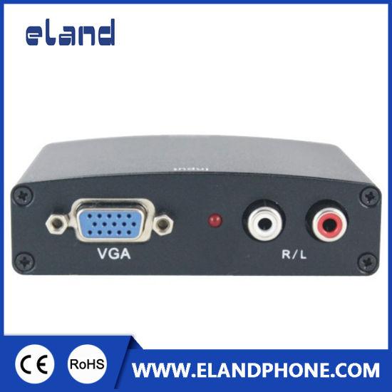 VGA+L/R to HDMI HD HDTV Video Converter Box Adapter