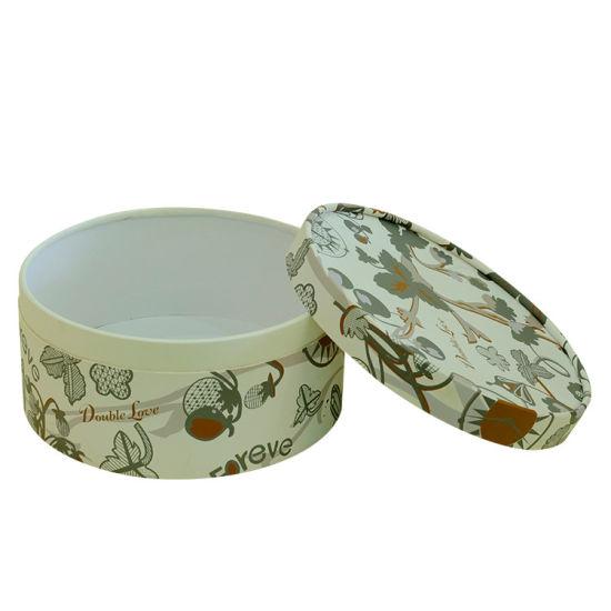 Gold Stamping Round Hat Paper Custom Cylinder Flower Box