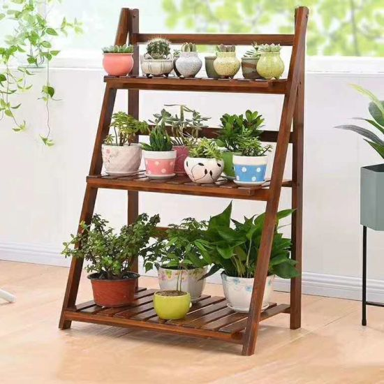 China Wooden Flower Plants Stand Indoor Balcony Flower Pots Stand Home Shelf Grade Decorative Plant Stand China Flower Rack And Store Display Price